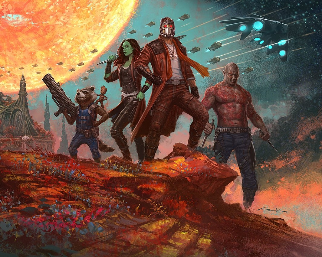 Guardians Of The Galaxy Oil Paint Art