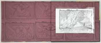 The original storyboard in a crystal clear sleeve attached to the Rear Endpaper