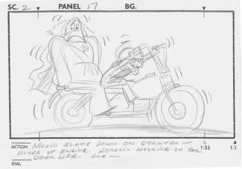 One of the Original John Pomeroy Storyboards included in the Deluxe Edition!