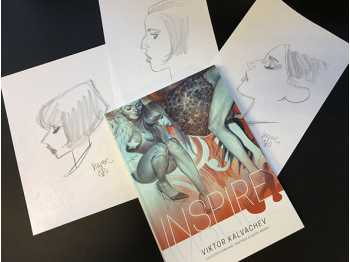 Examples of the Free Headsketches included with the books