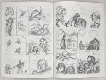 Excerpt pages from storyboard book