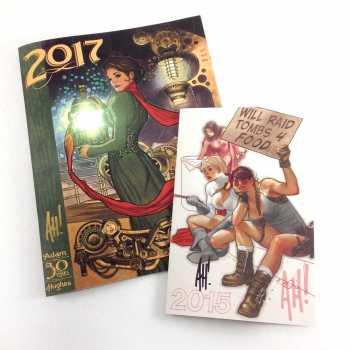 AH! 2017 is 200% BIGGER than his previous sketchbook