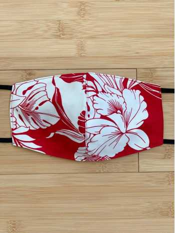 Monstera Orchid Red Face Mask