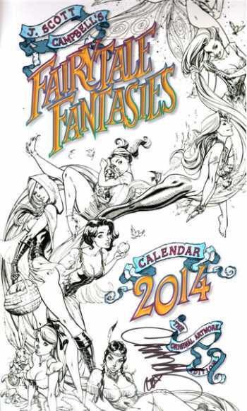 Fairytale Fantasies 2014 Calendar: The Original Artwork Edition